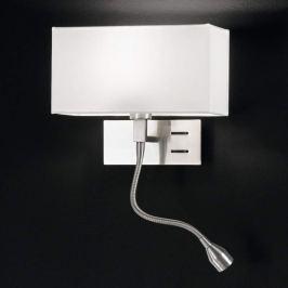 Elegante Wandleuchte Emilian mit LED-Leselampe