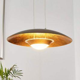 Attraktive LED-Pendellampe Yasien, schwarz-gold