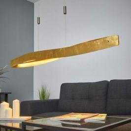 Geschwungene LED-Hängeleuchte Lian in Goldoptik