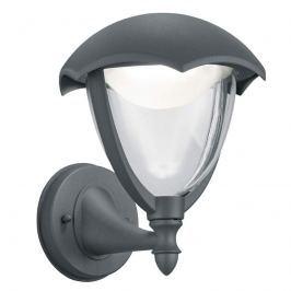 Anthrazitfarbene LED-Außenwandlampe Gracht Uplight