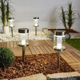 4er Set LED-Solarleuchte Paolo aus Metall und Glas