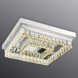LED-Kristall-Deckenleuchte Febe eckig 42 cm