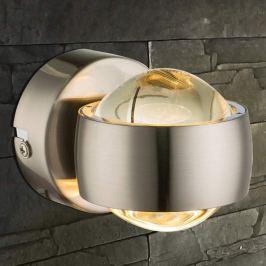 LED-Wandleuchte Randi mit tollem Effekt, nickel