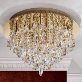 Kristall-Deckenleuchte Helene in Gold, 45 cm
