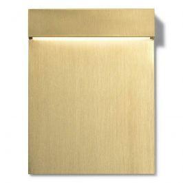 FLOS Real Matter LED-Wandeinbauleuchte IP65 gold