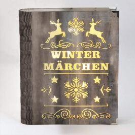 LED-Dekoleuchte Wintermärchen in Buchform