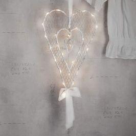 Reizvolles LED-Dekoherz Mammas Hjärta 49 cm