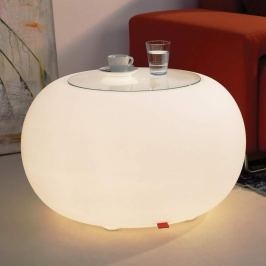 Tisch BUBBLE Indoor LED Licht weiß + Glasplatte