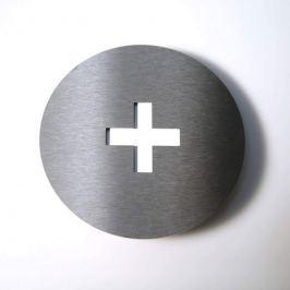 Hausnummer Round aus Edelstahl +