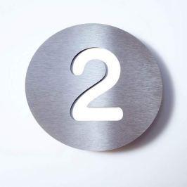 Hausnummer Round aus Edelstahl - 2
