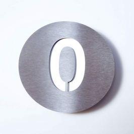 Hausnummer Round aus Edelstahl - 0