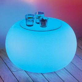 BUBBLE Outdoor LED Tisch  RGB + Glasplatte