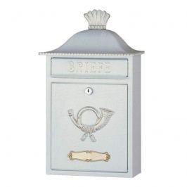 Formschöner Briefkasten MARENO weiß-gold patiniert
