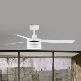 Mit LED - dreiflügeliger Deckenventilator Ice