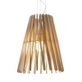 Fabbian Stick - kegelförmige Holz-Hängeleuchte