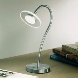 Verstellbare LED-Tischleuchte Crow mit dünnem Glas