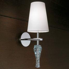 Schmuckvolle Wandlampe Crystal weiß