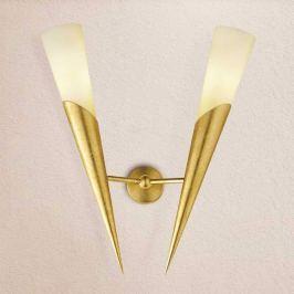 Goldene Wandfackel Edoardo, zweiflammig