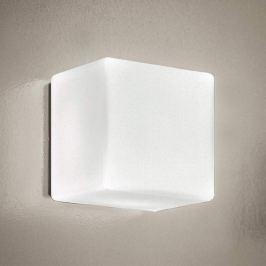 Cubi - quadratische LED-Wandleuchte mit Glasschirm