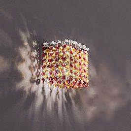 Funkelnde Wandlampe Aurea in Rot-Amber