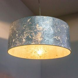 Silberne Hängeleuchte Aura, 40 cm Durchmesser