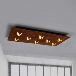 Roni - dimmbare LED-Deckenlampe mit Rostfinish