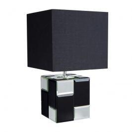 Verspiegelter Fuß - Tischleuchte Cube