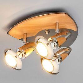 Holz-Deckenleuchte Sharleen mit LED-Lampen
