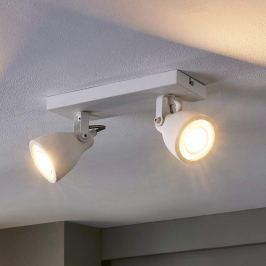 Zweiflammiger LED-Strahler Kadiga in Weiß