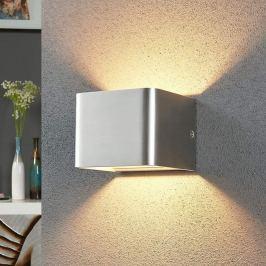 Nickelfarbene LED-Wandlampe Lonisa