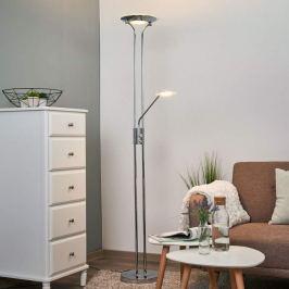 Aras - LED-Stehleuchte mit Leselampe, chrom