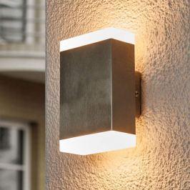 Aya - eckige LED-Wandlampe für den Außenbereich