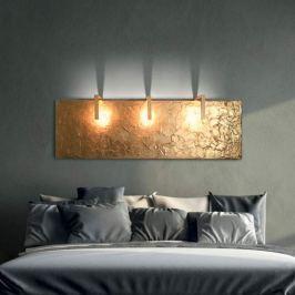 160 cm breite LED-Wandleuchte Artled mit Blattgold
