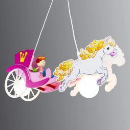 Hängeleuchte Prinzessin mit Pferd und Kutsche