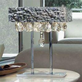 Glanzvolle Tischleuchte MAGMA mit Kristallbehang
