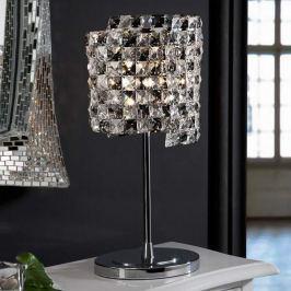 Kristall-Tischleuchte Satén mit K9-Kristallen