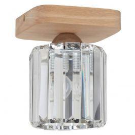 Glanzvolle Deckenlampe Jorunn mit Holzplatte