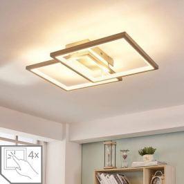 LED-Deckenlampe Heriba aus zwei Rahmen, dimmbar