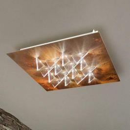 Effektvolle LED-Deckenlampe Cristalli, rost