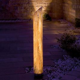Leuchtende LED-Säule Sahara mit Sandstein, 140 cm