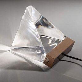 Fabbian Tripla - Kristall-LED-Tischleuchte, bronze