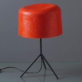 Glasfaserschirm in Rot - Tischleuchte Ola