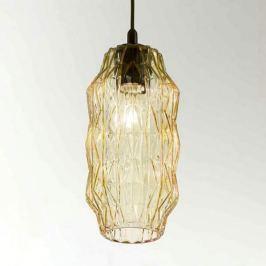 Elegante Glas-Pendelleuchte Origami amber