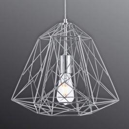 Futuristische Hängeleuchte Geometric Cage chrom