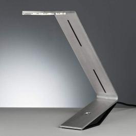 Tecnolumen Flad - LED-Tischleuchte, silbergrau