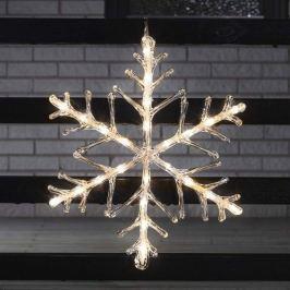 Dekorative LED-Deko Schneeflocke 40 cm 24-flg.