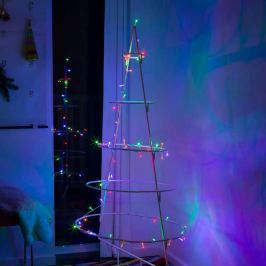 Klares Kabel - LED-Lichterkette Mini bunt 50fl