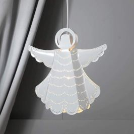 Weiß lackierter Metall-Engel Angelica