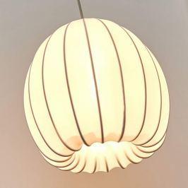 Axolight Muse - weiße Textilhängeleuchte, 25 cm