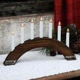 Dunkelbrauner Kerzenleuchter Viking Bow 7-flammig